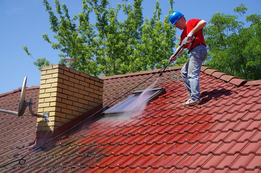 professional roof cleaning and maintenance